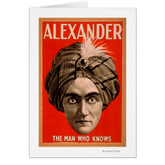 Alexander the Man who Knows Magic Poster Card