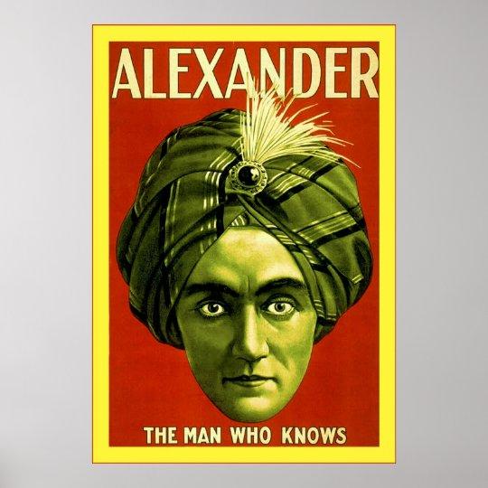 Alexander ~ Vintage Magician Poster