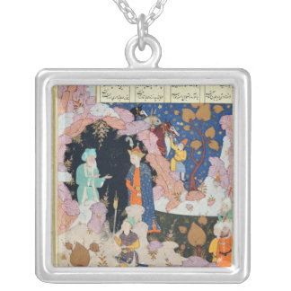 Alexander Visits a Hermit Silver Plated Necklace