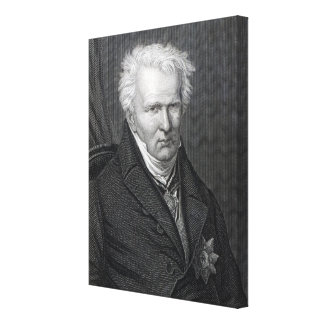 Alexander von Humboldt, engraved by C. Cook Canvas Print