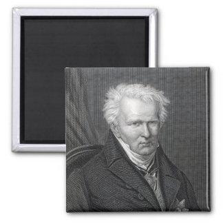 Alexander von Humboldt, engraved by C. Cook Square Magnet