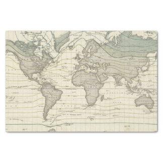 Alexander von Humboldt's system isothermal curves Tissue Paper