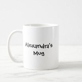 Alexandra's Mug, Custom Name Mug, Custom Design Coffee Mug