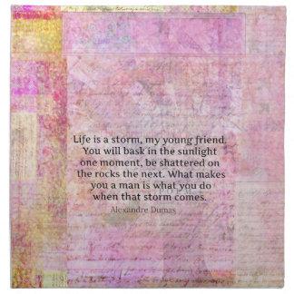 Alexandre Dumas Wisdom Life Quote Cloth Napkins