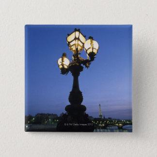 Alexandre III Bridge in Paris 15 Cm Square Badge