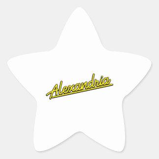 Alexandria in yellow stickers