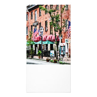 Alexandria Street With Cafe Personalized Photo Card