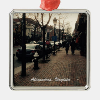 Alexandria, VA Street photo Christmas Ornament