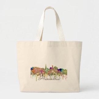 Alexandria, Virginia Skyline - Tote Bags