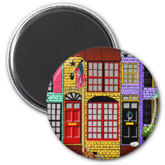 Alexandria Virginia Townhouses Fridge Magnet