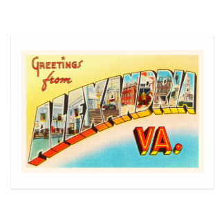 Alexandria Virginia VA Old Vintage Travel Postcard