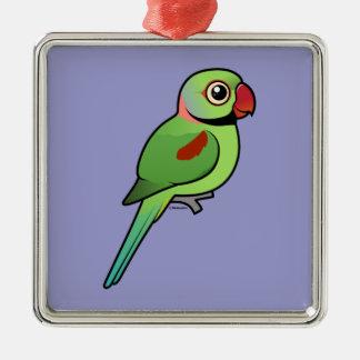 Alexandrine Parakeet Christmas Ornament
