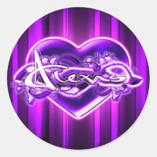 Alexas Round Stickers