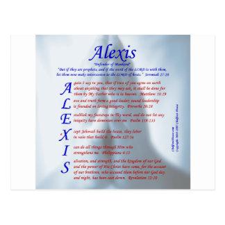 Alexis Acrostic Postcard