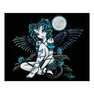 Alexis Flower Moon Angel Poster