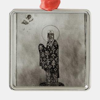 Alexius I Comnenus , Byzantine emperor Silver-Colored Square Decoration