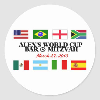 alex's-logo round sticker