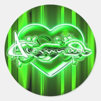 Alexxandrah Round Sticker