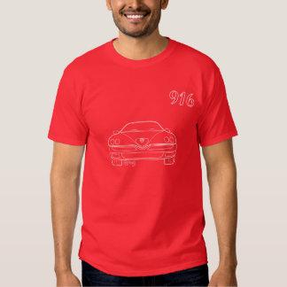 Alfa 916 GTV Spider outline T-shirt  Red