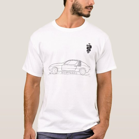 Alfa Montreal Outline sketch T-shirt