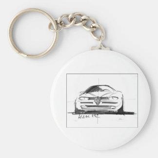 Alfa Romeo 156 Basic Round Button Key Ring