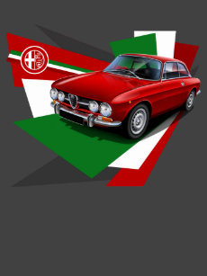 36fa0d6217a Alfa Romeo 1750 GTV Illustrated T-shirt