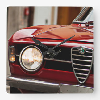 alfa romeo gt scalino vintage car square wall clock