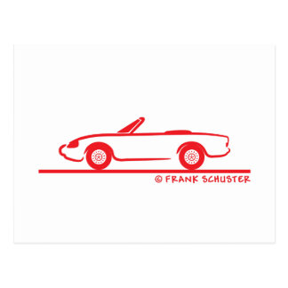 Alfa Romeo Spider Duetto Postcard