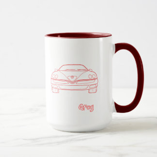 Alfa Spider Gtv Sporting heart Mug by Grog