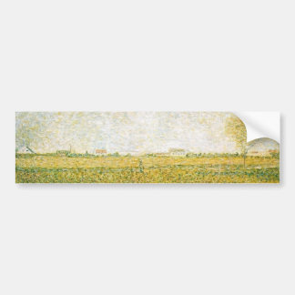 Alfalfa Fields Saint Denis by Georges Seurat Bumper Stickers