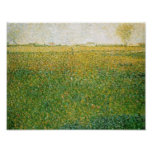 Alfalfa Fields Saint Denis by Georges Seurat Posters