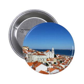 Alfama, Lisbon, Portugal 6 Cm Round Badge