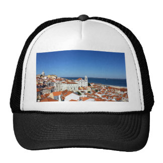 Alfama, Lisbon, Portugal Mesh Hats