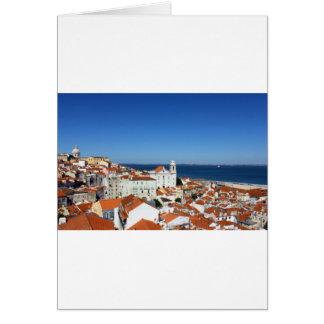 Alfama, Lisbon, Portugal Greeting Card