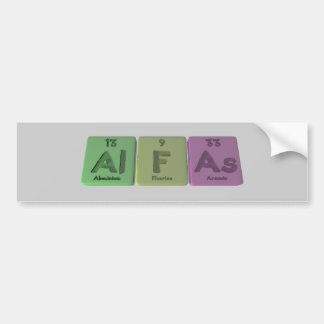 Alfas-Al-F-As-Aluminium-Fluorine-Arsenic Car Bumper Sticker