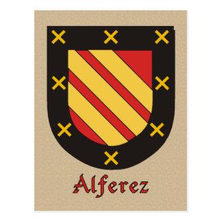 Alferez Ancestral Heraldic Shield Postcard