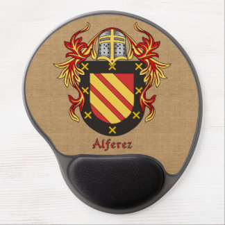 Alferez Historical Arms and Mantle Burlap Style Gel Mouse Mat