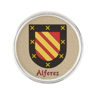 Alferez Historical Arms on Parchment Style Lapel Pin