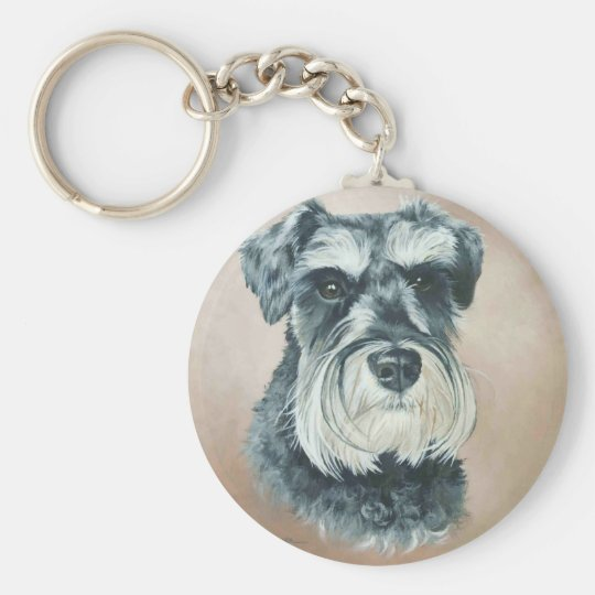 Alfie - miniature schnauzer key ring