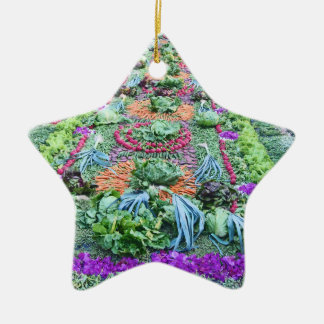 alfombra 16 Double-Sided star ceramic christmas ornament