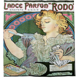 Alfons Mucha 1896 Lance Parfum Rodo Shower Curtain