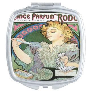 Alfons Mucha 1896 Lance Parfum Rodo Travel Mirror