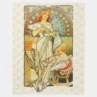 Alfons Mucha 1898 Food for Infants Fleece Blanket