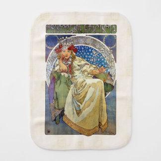 Alfons Mucha 1911 Princezna Hyacinta Baby Burp Cloth