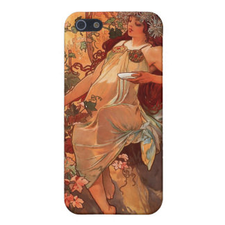 Alfons Mucha Autumn Art Nouveau iPhone Case