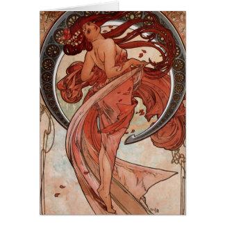 Alfons Mucha Dance Greeting Card