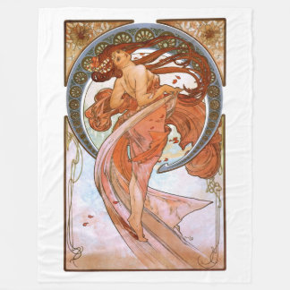 Alfons Mucha: Dance Fleece Blanket