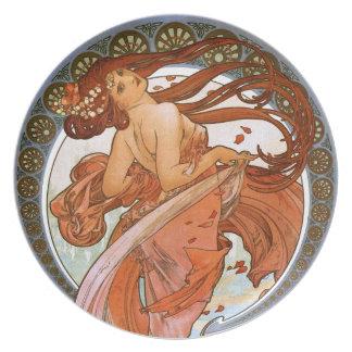 Alfons Mucha: Dance Plate