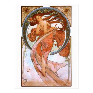 Alfons Mucha: Dance Postcard