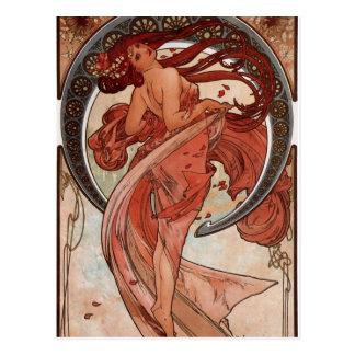 Alfons Mucha Dance Postcard